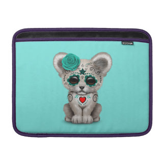 Blue Day of the Dead Lion Cub Sleeve For MacBook Air