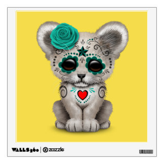 Blue Day of the Dead Lion Cub Wall Decal