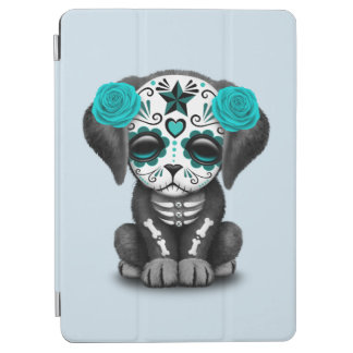 Blue Day of the Dead Puppy Dog iPad Air Cover