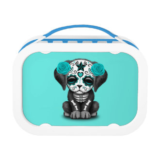 Blue Day of the Dead Puppy Dog Lunch Box