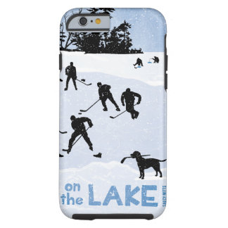 Blue Day on the Lake Pond Hockey Tough iPhone 6 Case