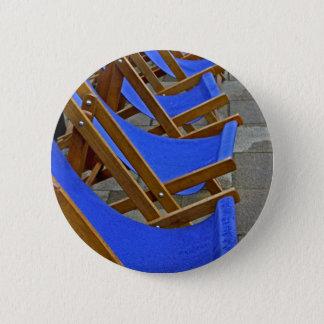 Blue Deck Chair  Button Badge