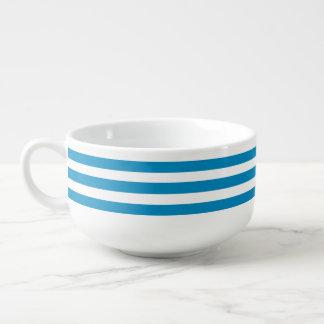 Blue Deckchair Stripes Soup Mug