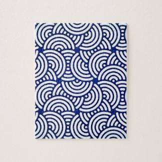Blue Deco Japanese Curve Puzzle