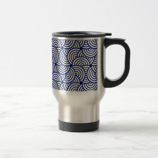 Blue Deco Japanese Curve Travel Mug