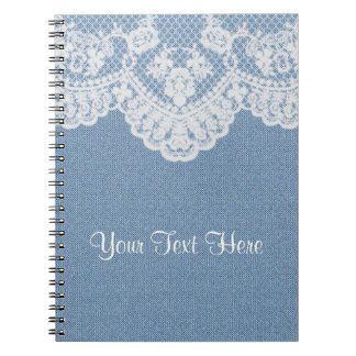 Blue Denim and Lace Note Book