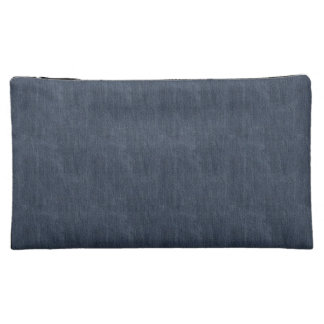 Blue Denim Cosmetic Bag