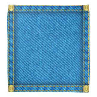 Blue denim jeans kerchiefs