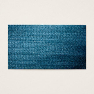 Blue Denim Jeans Texture For Background Business Card