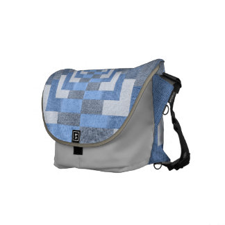 Blue Denim Messenger Bag