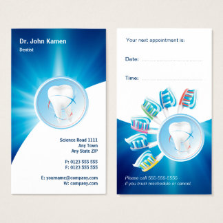 Blue Dental Appointment Card | Personalize Dentist
