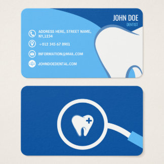 Blue Dental Surgeon dentistry medical illustration Business Card
