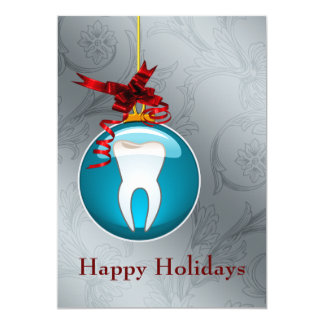 Blue Dentist Holiday Cards