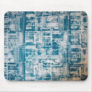 Blue Derby pattern Mouse Pad