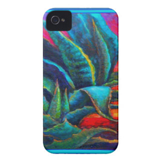 BLUE DESERT AGAVE RED DAWN DESIGN iPhone 4 CASE