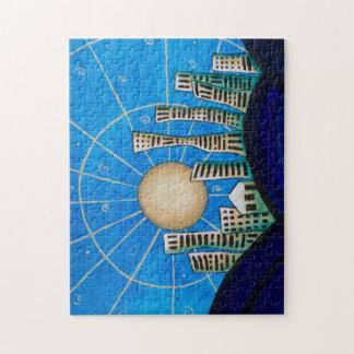Blue Desert City Puzzle