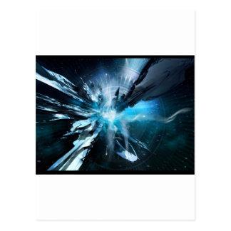 Blue Design Collection Postcard