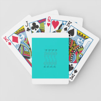 Blue design elements bicycle playing cards