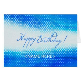 Blue Design for Birthday Greeting card