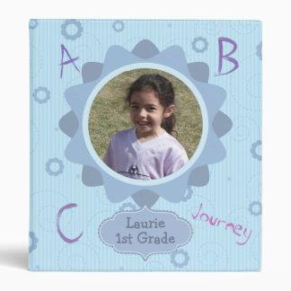 Blue Design Grade School Memories Photo Template 3 Ring Binder