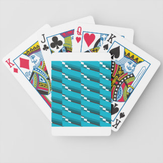 Blue Diagonal Line Bicycle Playing Cards