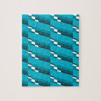Blue Diagonal Line Jigsaw Puzzle