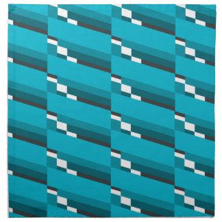 Blue Diagonal Line Napkin