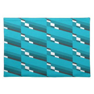 Blue Diagonal Line Placemat