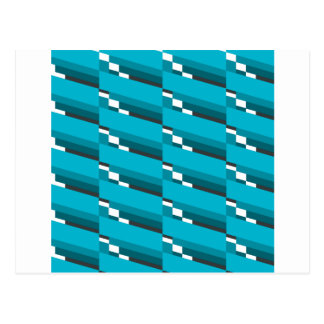 Blue Diagonal Line Postcard