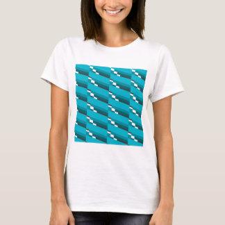 Blue Diagonal Line T-Shirt