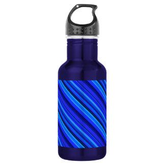 Blue diagonal stripes 532 ml water bottle