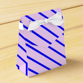 Blue Diagonal Stripes Favor Box