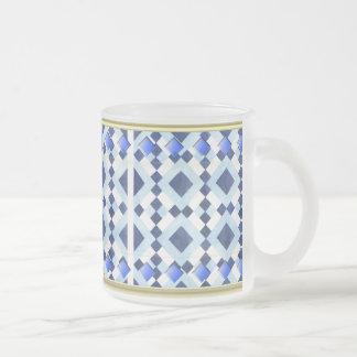 Blue Diamond 10-oz Frosted Glass Mug
