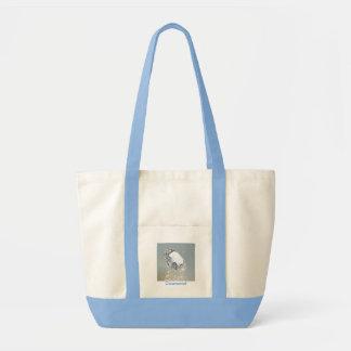 Blue diamond canvas bag