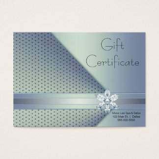 Blue Diamond Business Gift Certificate Cards