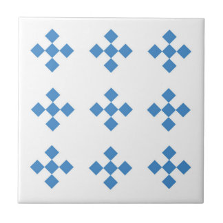 blue diamond configuration traditional tile design