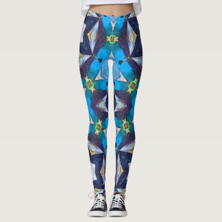 Blue Diamond Geometric Leggings