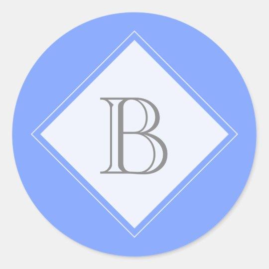 Blue Diamond Monogram Initial Seal