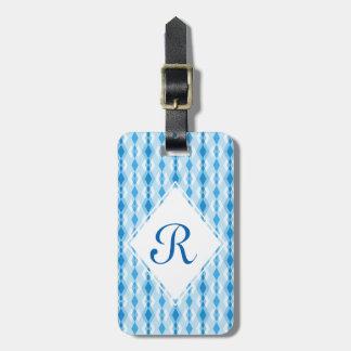 Blue Diamond Monogram Luggage Tag