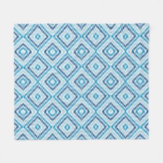 Blue Diamond Pattern Fleece Blanket