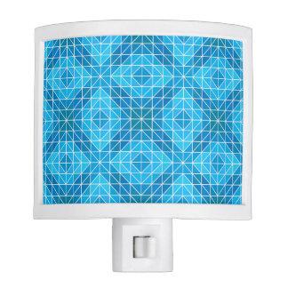 Blue Diamond Pattern Night Light