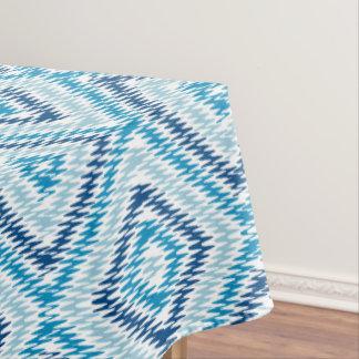 Blue Diamond Pattern Tablecloth
