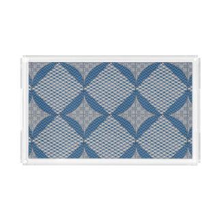 Blue Diamond Print Tray