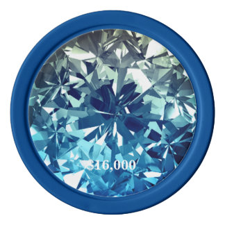 Blue Diamond Recoleta Filter Gem Stone Poker Chip