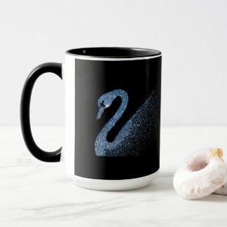 Blue Diamond Swan Mug