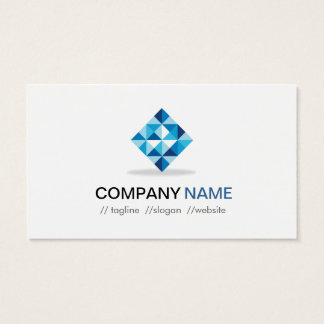 Blue Diamond Symbol - Modern Professional Business Card