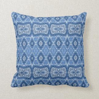 Blue Diamond Throw Pillow