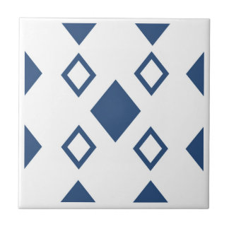 blue diamonds array traditional tile design