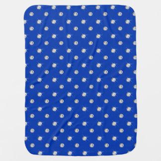 Blue diamonds baby blanket