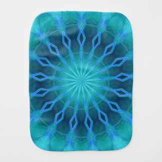 Blue Diamonds Burp Cloth